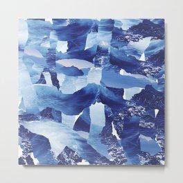 Nautical abstract pattern Metal Print