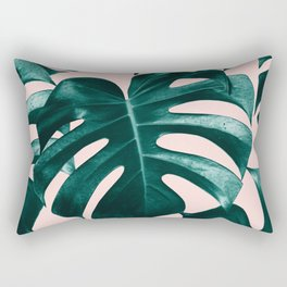 Tropical Monstera Leaves Dream #1 #tropical #decor #art #society6 Rectangular Pillow