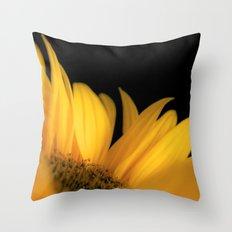 Yellow petals Throw Pillow
