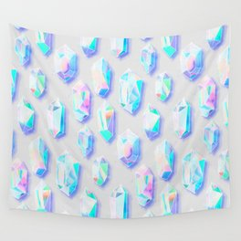 Iridescent Rainbow Crystals Wall Tapestry