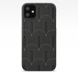 Art Deco Arch Pattern V Black & White iPhone Case