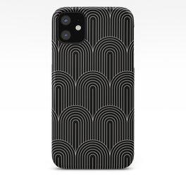 Art Deco Arch Pattern V Black & White iPhone Case
