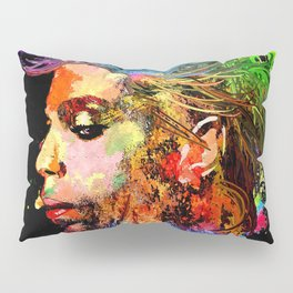 Prince Profile Grunge Pillow Sham