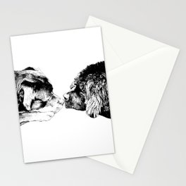 Rottweilers and Newfoundland Dog Sleeping Stationery Cards