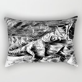 T-Rex Pen and Ink Rectangular Pillow