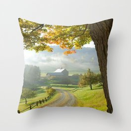 COUNTRY ROAD1 Throw Pillow