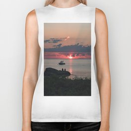 Sunset on the rocks Biker Tank