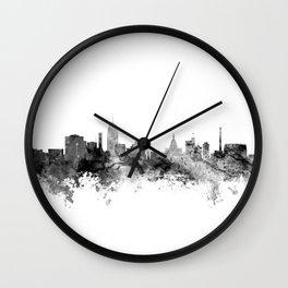Lansing Michigan Skyline Wall Clock