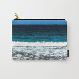 """Layers"" Sand Beach Waves Ocean Sky Carry-All Pouch"