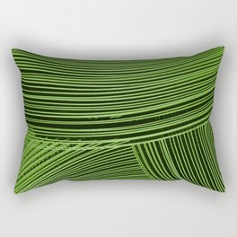 Abstract wave art - green Rectangular Pillow
