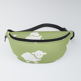 background with sheep Fanny Pack