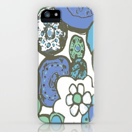 DUSTY BLUE GARDEN iPhone Case