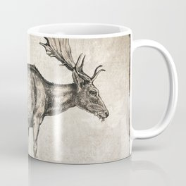 Moose Sketch (Monochrome) Coffee Mug