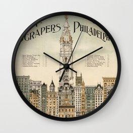 Vintage poster - Philadelphia Wall Clock