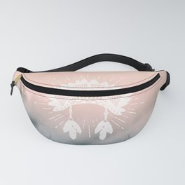 Your Vibe Attracts Your Tribe - Forest Fog Pink Fanny Pack