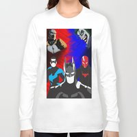 nightwing Long Sleeve T-shirts featuring Nightwing, Red Hood by dudesweet