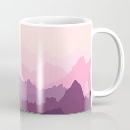Mountains in Pink Fog Coffee Mug