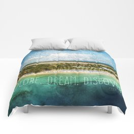Explore. Dream. Discover. Comforters