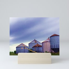 Mukwonago Grain Silos Mini Art Print