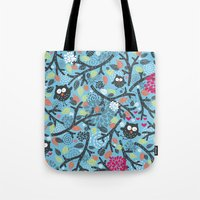 owls Tote Bags featuring Owls. by panova