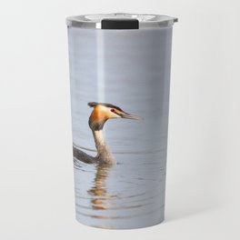 Great Crested Grebe Travel Mug