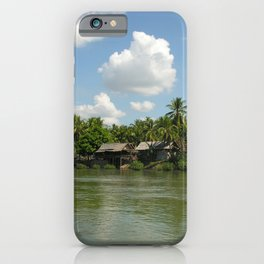 Village in the Tropical Jungle on the Mekong River iPhone Case