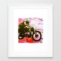 moto Framed Art Prints featuring moto by jasondavis