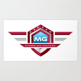 MG Fitness and Coaching Logo Tee Art Print