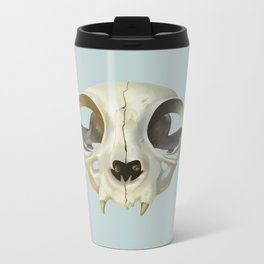 Cat Stare Metal Travel Mug