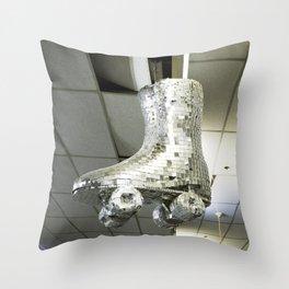 Disco Skate Throw Pillow