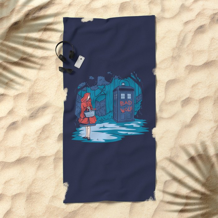 Big Bad Wolf Beach Towel