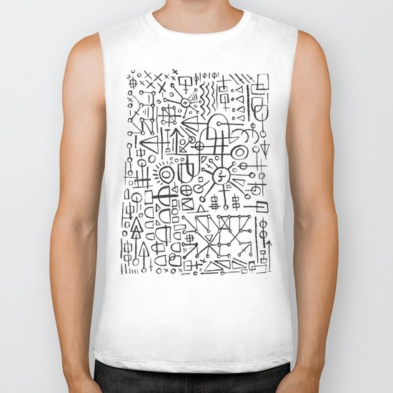 ALIEN WRITING Biker Tank