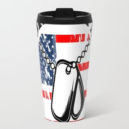NEVER UNDERESTIMATE THE RELENTLESS POWER OF GRANDPA WHO IS ALSO A VETERAN Travel Mug