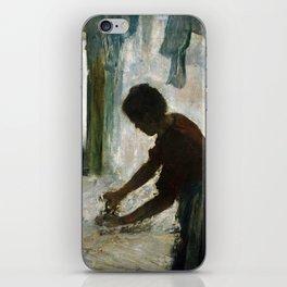 Edgar Degas A Woman Ironing iPhone Skin