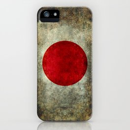 National flag of Japan - Super Grunge iPhone Case