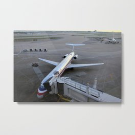 American Airlines MD-80 at DFW gate Metal Print