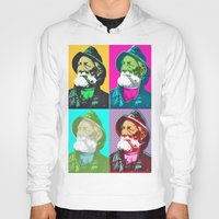 lichtenstein Hoodies featuring Warhol, Lichtenstein & The Fisherman by Christoffer Dupont