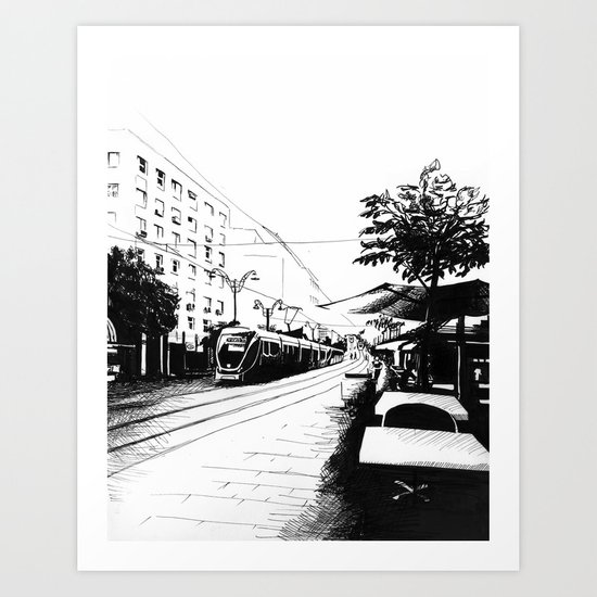 Jerusalem Light Rail Art Print