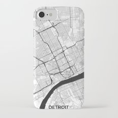 Detroit Map Gray Slim Case iPhone 7