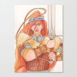 Warrior lady Canvas Print