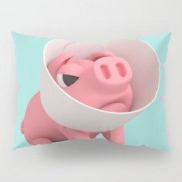 Rosa the Pig and Cone of Shame Pillow Sham