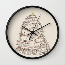 chirstmas tree Wall Clock