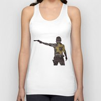 rick grimes Tank Tops featuring Rick Grimes with Quotes by rlc82