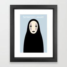 Spirited Away / No Face Framed Art Print