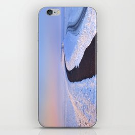 I - Lake and dike at sunrise in winter in The Netherlands iPhone Skin