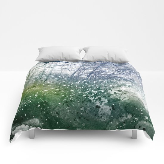 Acrylic Forest Blizzard Comforters