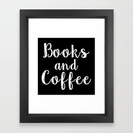 Books and Coffee - Inverted Framed Art Print