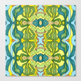 Lettuce Bloom Kaleidoscope Canvas Print