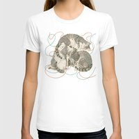 play T-shirts featuring cats by Laura Graves