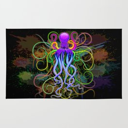 Octopus Psychedelic Luminescence Rug